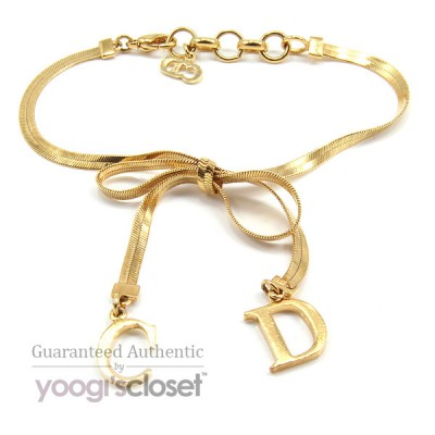 Christian Dior Gold Bow Bracelet