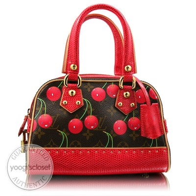 Louis Vuitton Limited Edition Cerises Lizard Neo Deauville Bag