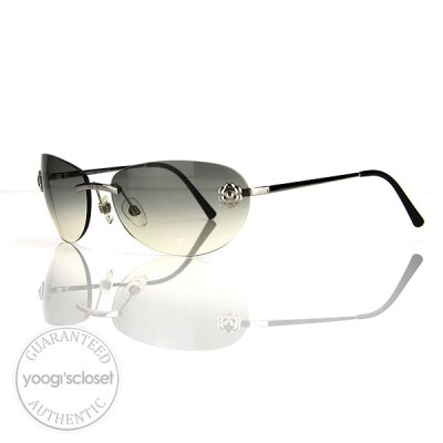 Chanel Silver Rimless Camellia Flower Sunglasses 4084
