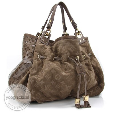 Louis Vuitton Limited Edition Coco Monogram Suede Irene Bag