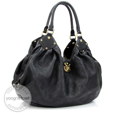 Louis Vuitton Black Mahina L Bag