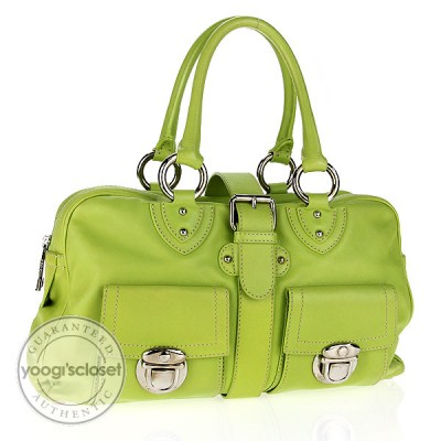 Marc Jacobs Lime Green Leather Venetia Bag