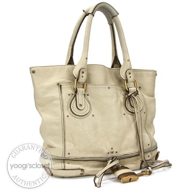 Chloe Ivory Paddington Large Tote Bag