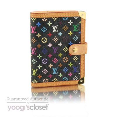 Louis Vuitton Black Monogram Multicolore Small Ring Agenda