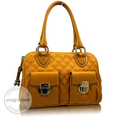 Marc Jacobs Yellow Quilted Leather Blake Bag