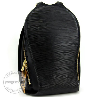 Louis Vuitton Black Epi Mabillon Backpack Bag