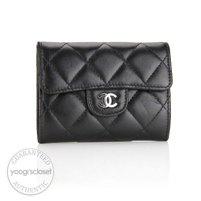 Chanel Black Quilted Lambskin Card/Change Holder