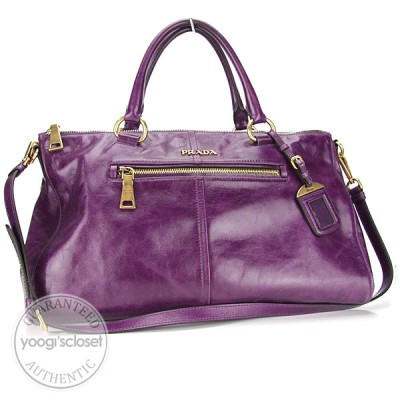 Prada Erica Vitello Shine Tote Bag BL0606