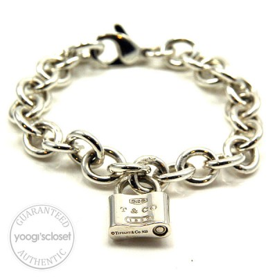 Tiffany & Co. Silver 1837 Lock Bracelet