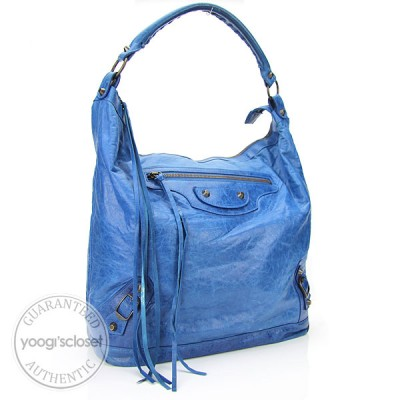Balenciaga Sky Blue Lambskin Day Bag