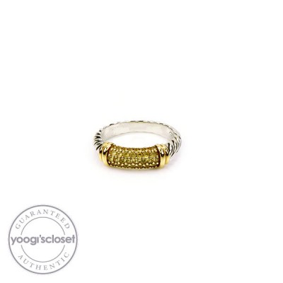 David Yurman Yellow Sapphire Cable Candy Metro Ring Size 7