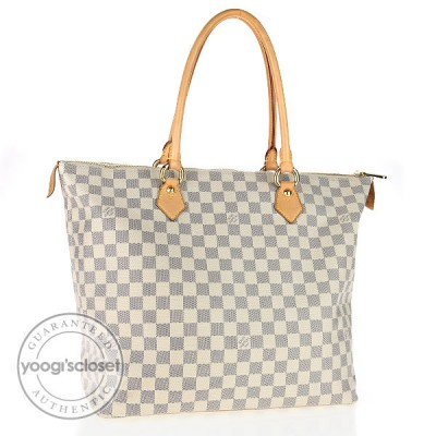 Louis Vuitton Azur Damier Saleya GM Bag