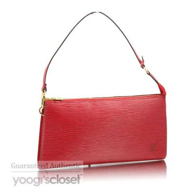 Louis Vuitton Red Epi Leather Accessories Pouch Bag