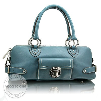 Marc Jacobs Denim Blue Calfskin Daria Shoulder Bag