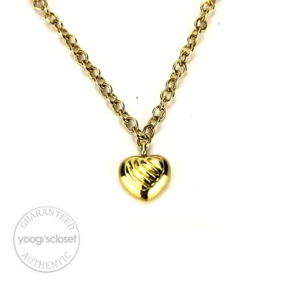 David Yurman 18K Yellow Gold Heart Necklace