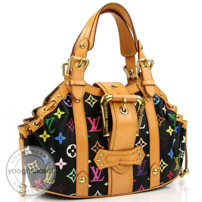 Louis Vuitton Limited Edition Black Multicolore Monogram Theda GM