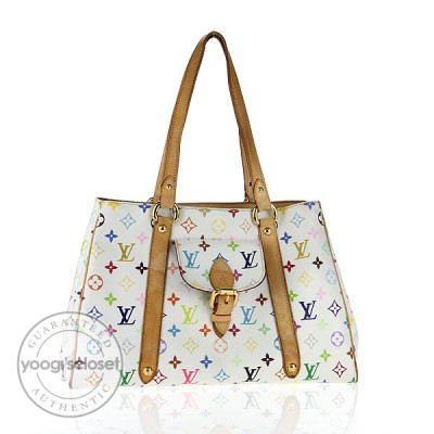 Louis Vuitton White Multicolore Monogram Aurelia MM Bag