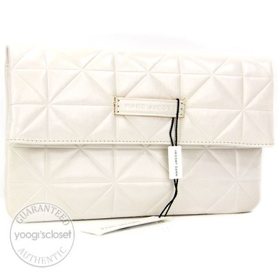 Marc Jacobs Coconut Calfskin Patchwork  Eugenie Clutch Bag