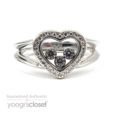 Chopard 18K White Gold Happy Diamonds Heart Ring
