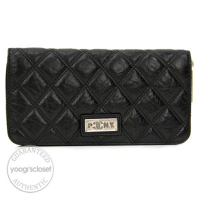 Chanel Black Quilted Lambskin Wallet Purse (PNY