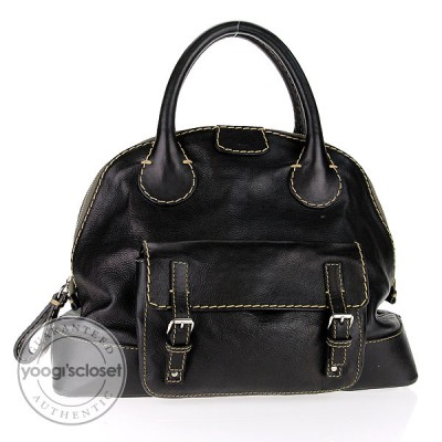 Chloe Black Leather Edith Bowler Bag