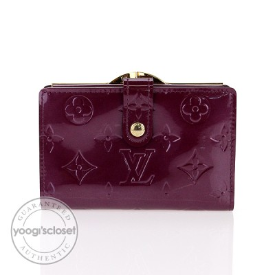 Louis Vuitton Violette Monogram Vernis French Purse Wallet