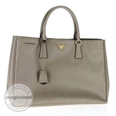 Prada Pomice Saffiano Luxe Leather Tote Bag BN1844