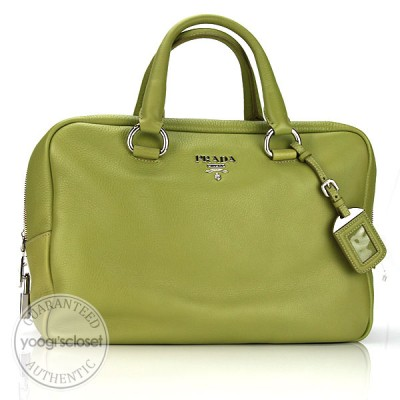 Prada Cedro Calfskin Leather Bauletto Bag BL0555