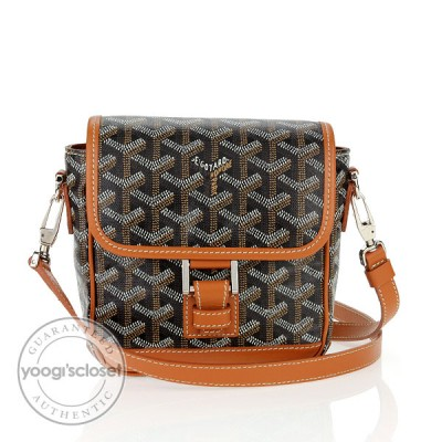 Goyard Black Coated Canvas Mini Cross-Body Bag