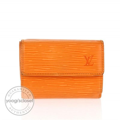 Louis Vuitton Mandarin Epi Leather Small Compact Wallet