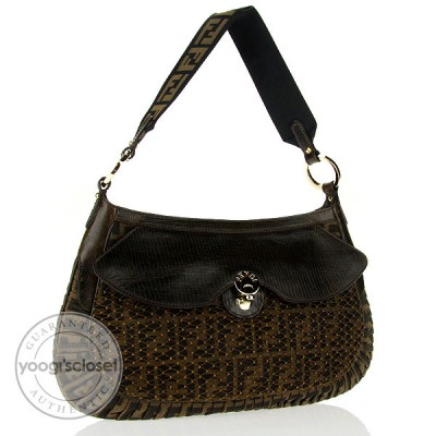 Fendi Tobacco Zucca Print Canvas Mille Feuille Shoulder Bag