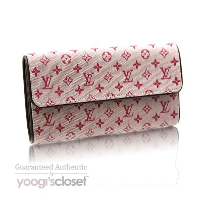 Louis Vuitton Cherry Red Mini Monogram Porte-Tresor International Wallet