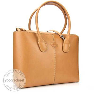Tod's Tan Leather Classic D-Bag