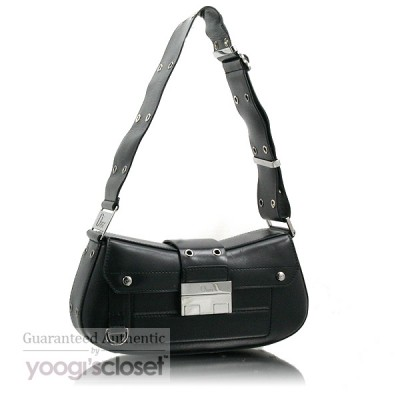 Christian Dior Black Leather Columbus Bag