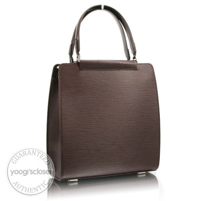 Louis Vuitton Moka Epi Leather Figari PM Bag