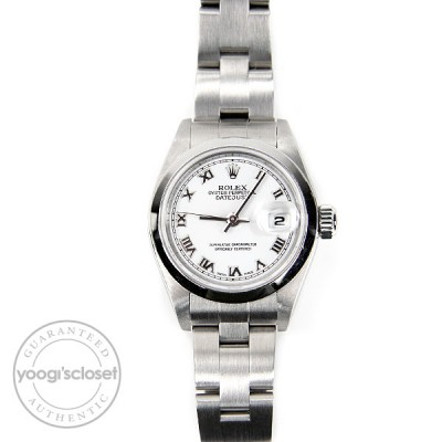 Rolex Stainless Steel White Dial Ladies 26mm Datejust Watch