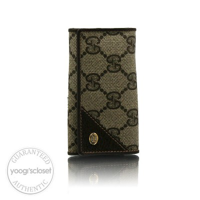 Gucci Vintage Beige GG Monogram Six-Key Holder