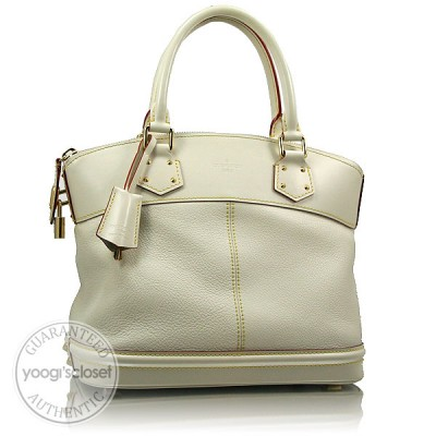 Louis Vuitton White Suhali Lockit PM Bag