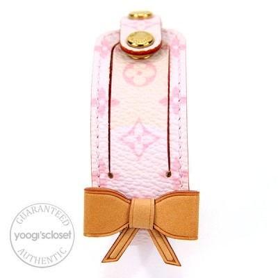 Louis Vuitton Pink Monogram Canvas Bow Tie Bracelet