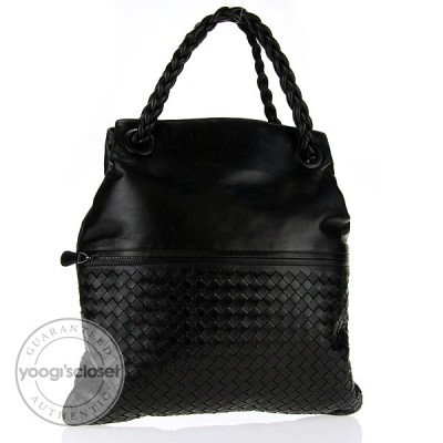 Bottega Veneta Nero Leather Julie Large Shopper Tote Bag