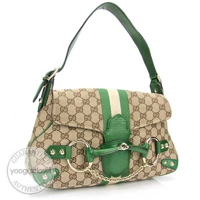 Gucci Beige/Ebony Horsebit Shoulder Bag
