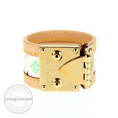 Louis Vuitton White Multicolore Monogram Canvas Murakami Koala Bracelet