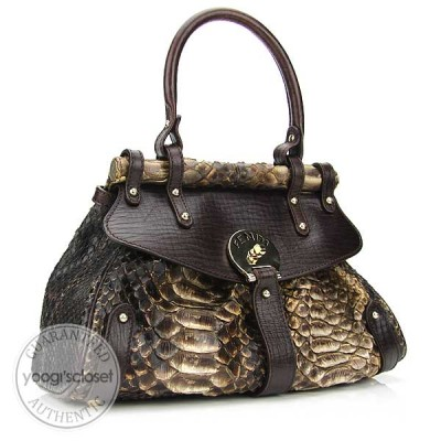Fendi Beige Python Small Magic Bag