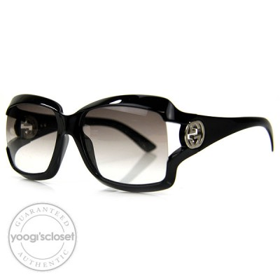 Gucci Black Havana Gradient Grey Lenses Sunglasses 2598/S