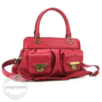 Marc Jacobs Red Leather Grace Small Tote Bag