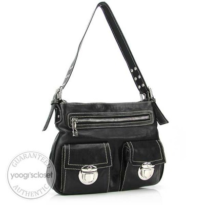 Marc Jacobs Black Calfskin Sophia Bag