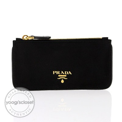 Prada Black Nylon Key and Change Holder