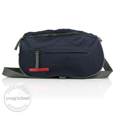 Prada Dark Navy Nylon Sport Messenger Bag