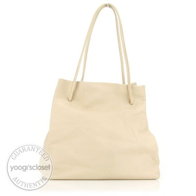 Prada Ivory Leather Shoulder Bag