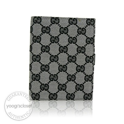 Gucci Black/White GG Fabric Small Ring Agenda